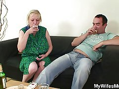 Cheating sex about busty mother-in-law gets discovered!
