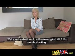 FakeAgentUK Mature MILF wants young shine cock on the top of demand - HardSexTube