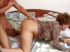 Sexy Older Woman Fro Glasses Fucks Young Cock