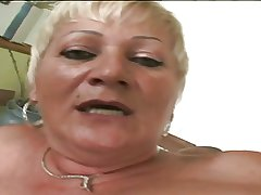 Horny granny Amanda is a screwing machine!