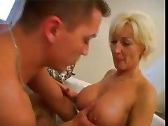 Mature woman with an increment of guy