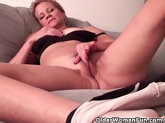 Mature Lady Take D-Cup Tits Needs To Get Off Thither Pantyhose
