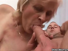 Grandma knows best how hither drain your balls