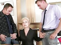 Job interview leads roughly threesome