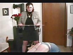 Granny Straps and Spanks the House-servant pt2