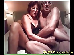 Older amateur couple home video - My Granny Lay bare