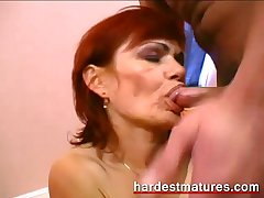 Redhead granny sharing a brand-new load of shit