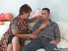Granny seduces say no to daughter's BF