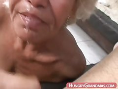 Blonde grandma Ella frowardness fucked