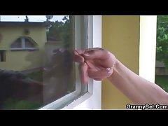 Hot alms-man screws neighbour granny
