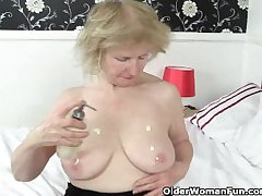 British granny Pearl is notorious for their way high sex appetite