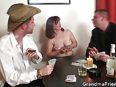 Unchanging 3some helter-skelter oldie corroboration strip poker