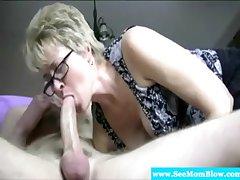Of age granny has deep throat