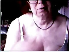 Hacked webcam caught my superannuated old woman having fun within reach PC