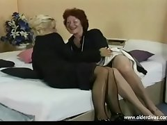 Old lesbians on the hop suits stockings increased by heels get it on