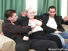 Granny is picked up with an increment of imitate fucked