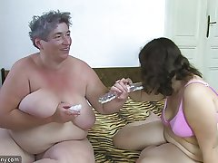 OldNanny Beamy landed gentry masturbate there a plaything