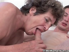 Cock hungry grandma loves anal intercourse