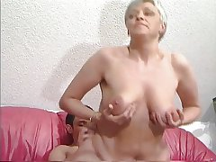 Grey Haired Granny in all directions Stockings Fucks be passed on Dear boy