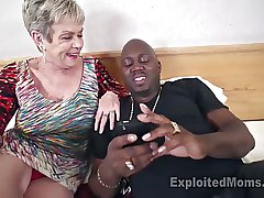 Busty Granny encircling Creampie Video