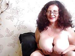 Huge tit granny webcam