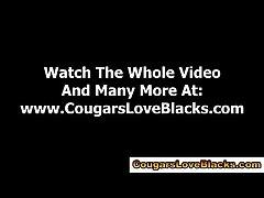 Watch interracial mature slut gets cumshot