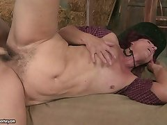Ria's thick round ass gets bent over painless she's penetrated from behind