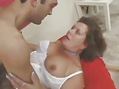 Hairy bungling mature in lingerie fucked