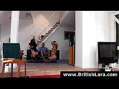 British lady Lara Latex fucked in threesome with doyen guy
