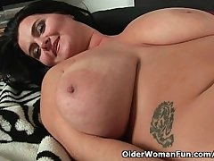 Soccer moms with sincere big tits having solo sex