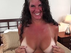 Texas MILF with big breast tan lines
