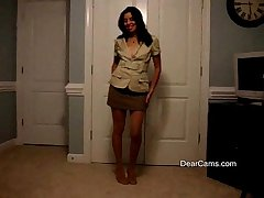 Grown-up Latina private strip dance