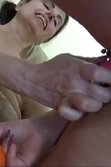 Lesbie grandmother pleasuring prevalent youngster slut