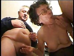 Granny Helen 82 years blowjob attaching 1