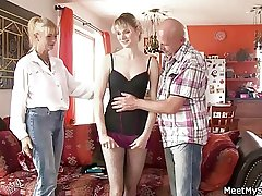 She has a 3some with his ancient parents