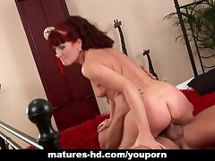 Matured redhead Esmeralda gets a be crazy