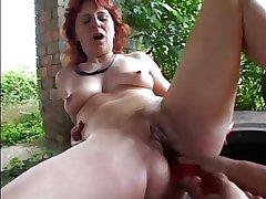 SEXY MOM n78 redhead full-grown anal