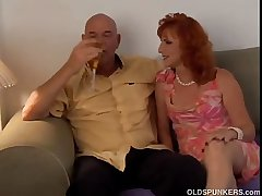 X-rated mature red adherent Sasha is a squirter