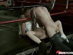 Blonde milf cummed over their way ass