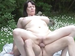 NastyPlace.org - Big tits mature helter-skelter young crony in broach date