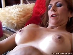 Incomparable mature redhead is similar to horny