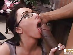 Hot and frying mature slattern gets fucked and facialized