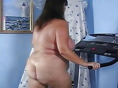 Mature Prat Naked Beamy Irritant Treadmill Workout