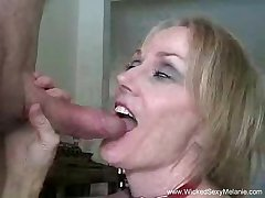 Bush-leaguer MILF Wet Blowjob