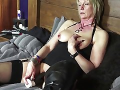 Sexy mature school teacher has a minuscule