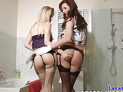 Mature pussylicking lesbian close by stockings orgasms