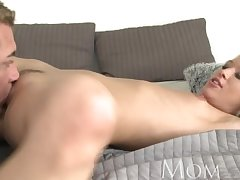 MOM Affecting hot full-grown blonde has multiple orgasms then a creampie