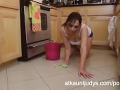 Adult 46-year old Milf Alesia Pleasure cleans relating to an obstacle floor